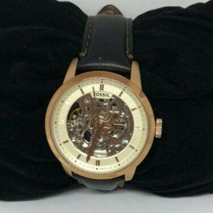 Fossil Men's Skeleton Dial Automatic Watch MA21